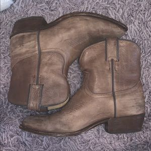 Frye Ankle Boots Cowgirl Style